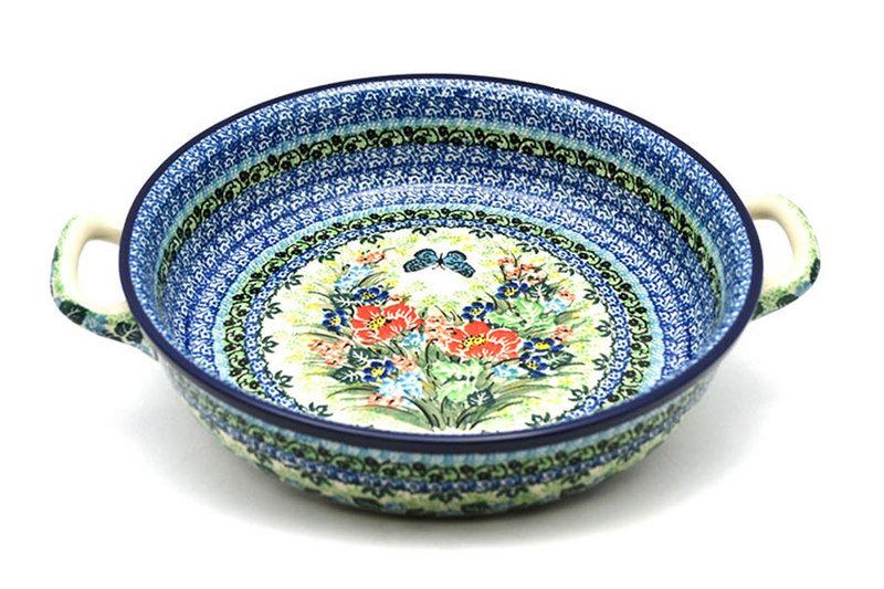 Ceramika Artystyczna Polish Pottery Baker - Round with Handles - Large - Unikat Signature U4553 420-U4553 (Ceramika Artystyczna)