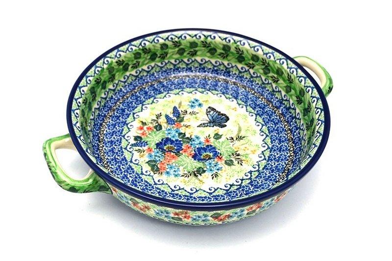 Ceramika Artystyczna Polish Pottery Baker - Round with Handles - Large - Unikat Signature U4600 420-U4600 (Ceramika Artystyczna)