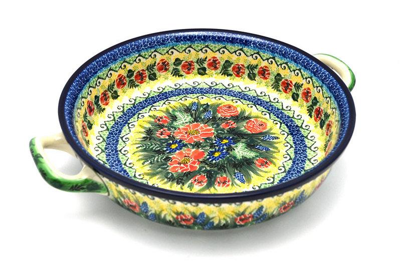 Ceramika Artystyczna Polish Pottery Baker - Round with Handles - Large - Unikat Signature U4610 420-U4610 (Ceramika Artystyczna)