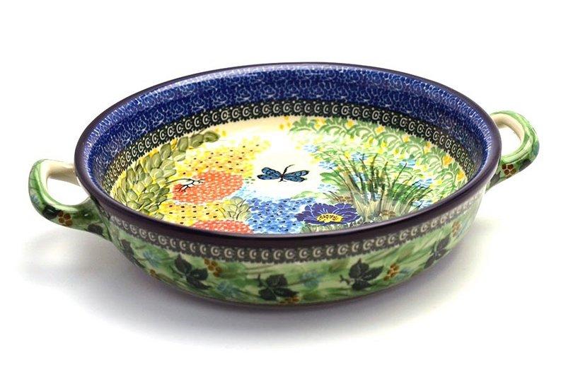 Ceramika Artystyczna Polish Pottery Baker - Round with Handles - Large - Unikat Signature U4612 420-U4612 (Ceramika Artystyczna)