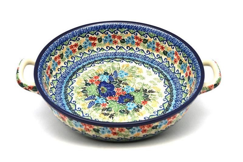 Ceramika Artystyczna Polish Pottery Baker - Round with Handles - Large - Unikat Signature U4695 420-U4695 (Ceramika Artystyczna)