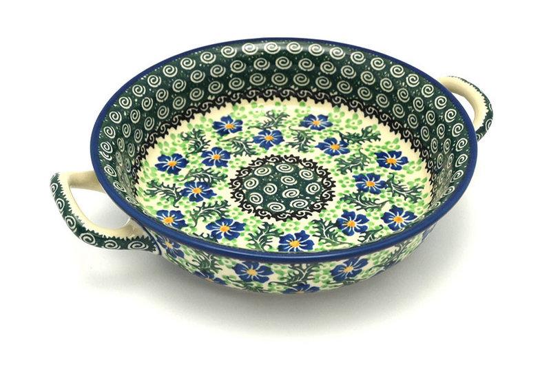 Ceramika Artystyczna Polish Pottery Baker - Round with Handles - Medium - Sweet Violet 419-1538a (Ceramika Artystyczna)