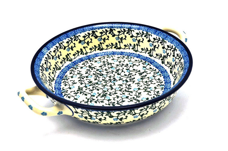 Ceramika Artystyczna Polish Pottery Baker - Round with Handles - Medium - Terrace Vines 419-1822a (Ceramika Artystyczna)
