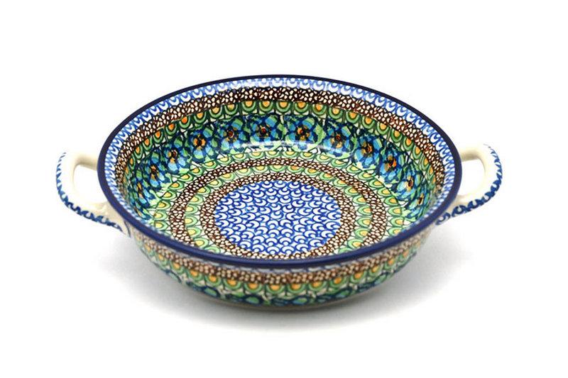 Ceramika Artystyczna Polish Pottery Baker - Round with Handles - Medium - Unikat Signature - U151 419-U0151 (Ceramika Artystyczna)