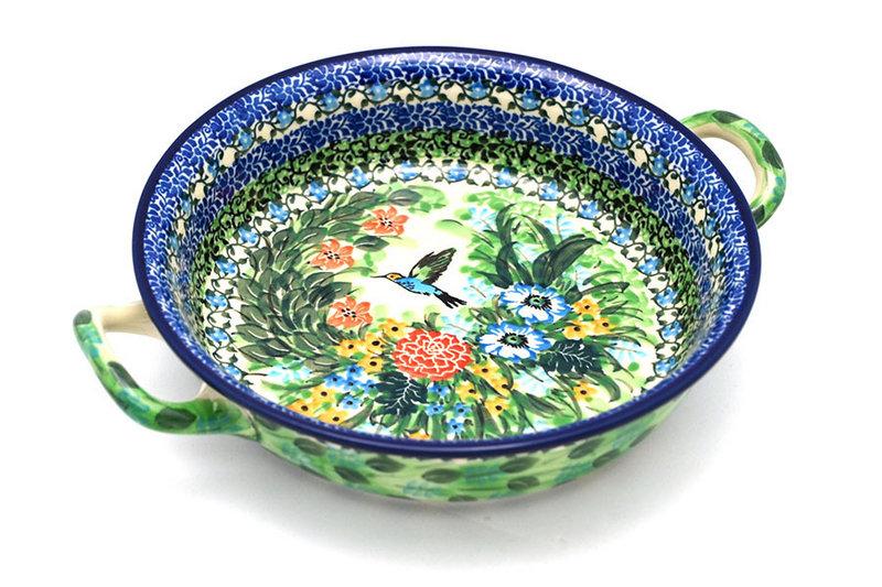 Ceramika Artystyczna Polish Pottery Baker - Round with Handles - Medium - Unikat Signature - U3271 419-U3271 (Ceramika Artystyczna)