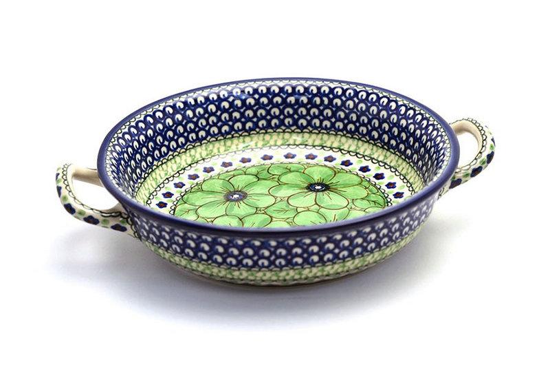 Ceramika Artystyczna Polish Pottery Baker - Round with Handles - Medium - Unikat Signature - U408A 419-U408A (Ceramika Artystyczna)