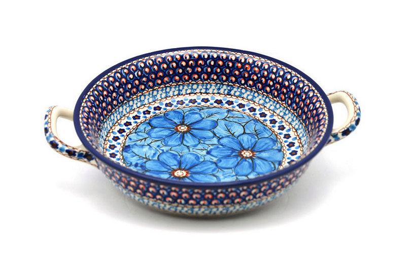 Ceramika Artystyczna Polish Pottery Baker - Round with Handles - Medium - Unikat Signature - U408C 419-U408C (Ceramika Artystyczna)