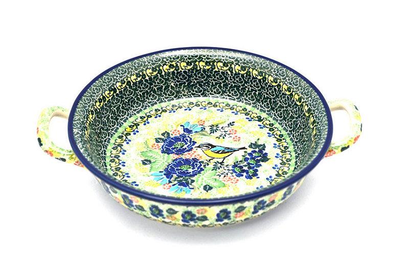 Ceramika Artystyczna Polish Pottery Baker - Round with Handles - Medium - Unikat Signature - U4419 419-U4419 (Ceramika Artystyczna)