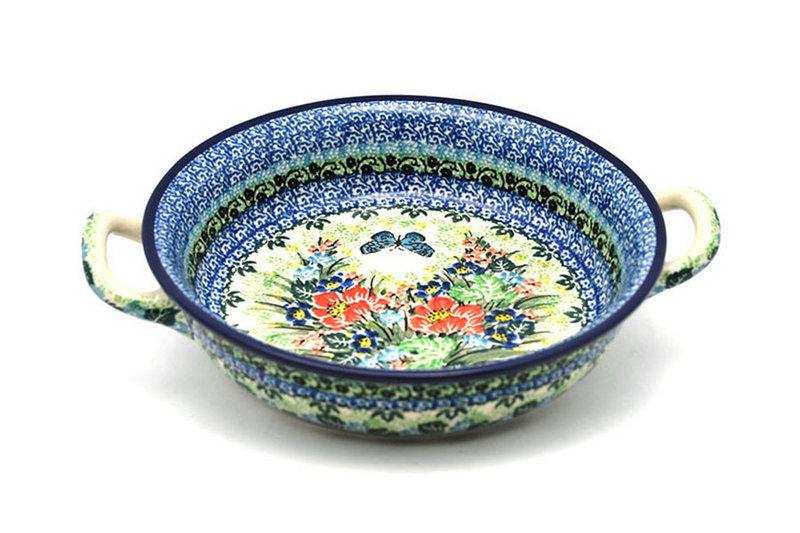 Ceramika Artystyczna Polish Pottery Baker - Round with Handles - Medium - Unikat Signature - U4553 419-U4553 (Ceramika Artystyczna)