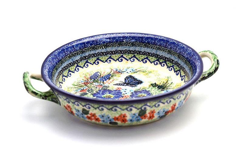Ceramika Artystyczna Polish Pottery Baker - Round with Handles - Medium - Unikat Signature - U4600 419-U4600 (Ceramika Artystyczna)