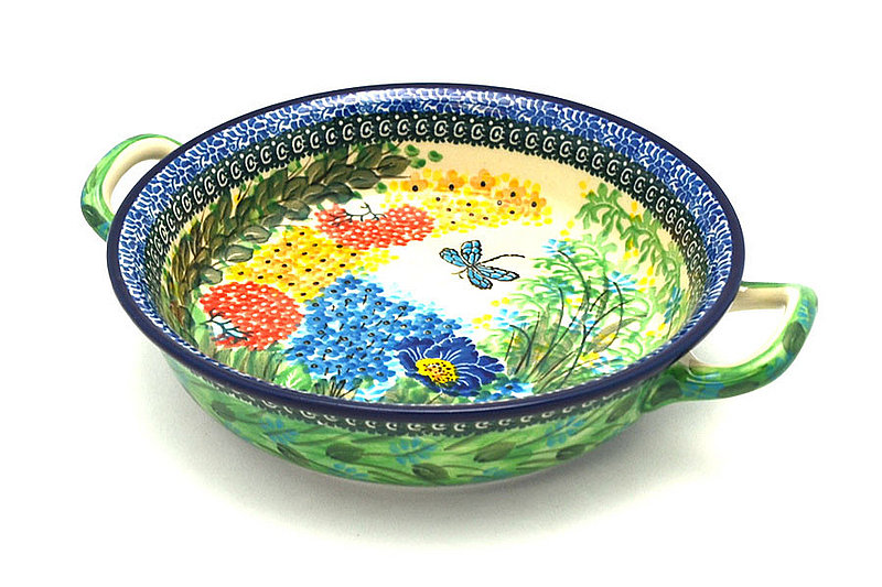 Ceramika Artystyczna Polish Pottery Baker - Round with Handles - Medium - Unikat Signature - U4612 419-U4612 (Ceramika Artystyczna)