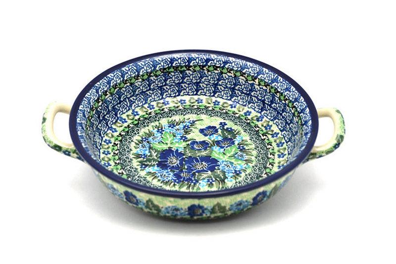 Ceramika Artystyczna Polish Pottery Baker - Round with Handles - Medium - Unikat Signature - U4629 419-U4629 (Ceramika Artystyczna)