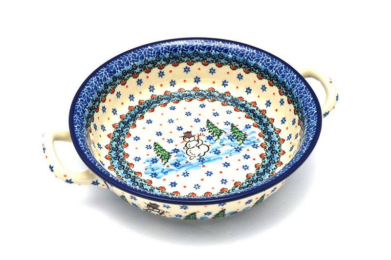 Ceramika Artystyczna Polish Pottery Baker - Round with Handles - Medium - Unikat Signature - U4661 419-U4661 (Ceramika Artystyczna)