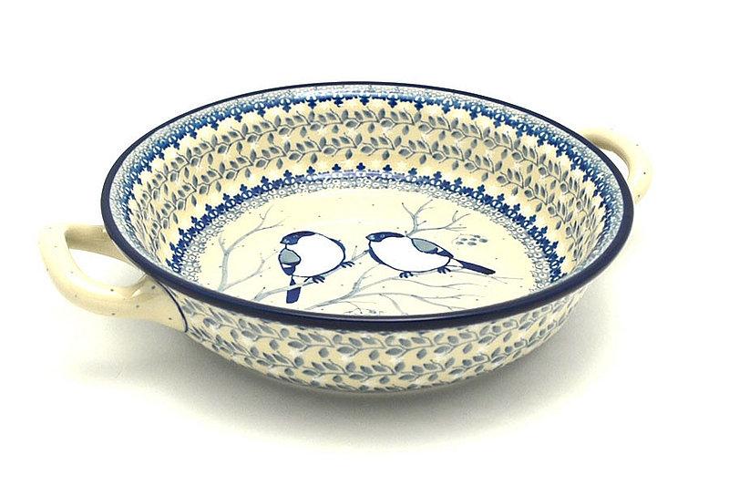 Ceramika Artystyczna Polish Pottery Baker - Round with Handles - Medium - Unikat Signature - U4830 419-U4830 (Ceramika Artystyczna)