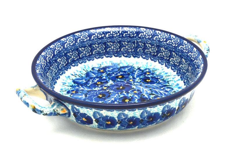 Ceramika Artystyczna Polish Pottery Baker - Round with Handles - Small - Unikat Signature - U3639 C40-U3639 (Ceramika Artystyczna)