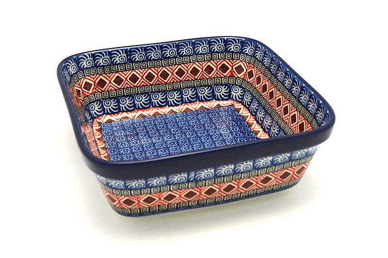Ceramika Artystyczna Polish Pottery Baker - Square - Aztec Sun 430-1350a (Ceramika Artystyczna)