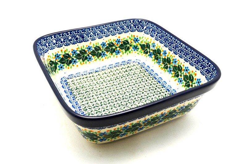 Ceramika Artystyczna Polish Pottery Baker - Square - Ivy Trail 430-1898a (Ceramika Artystyczna)