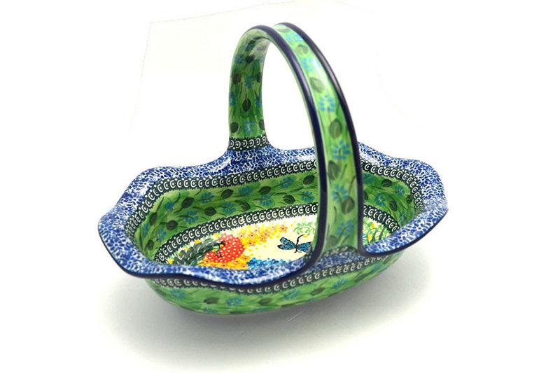 Ceramika Artystyczna Polish Pottery Basket - Large Oval - Unikat Signature - U4612 876-U4612 (Ceramika Artystyczna)
