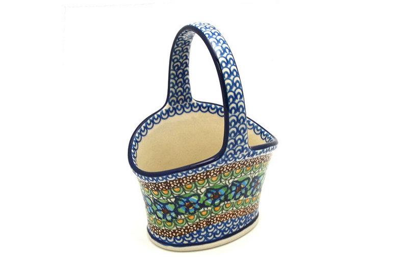 Ceramika Artystyczna Polish Pottery Basket - Small Hand - Unikat Signature - U151 A30-U0151 (Ceramika Artystyczna)