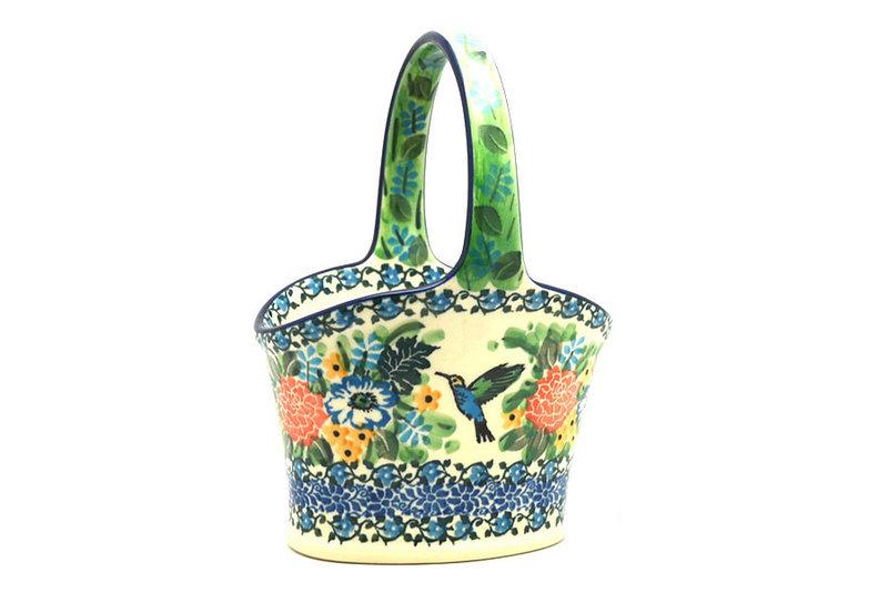 Ceramika Artystyczna Polish Pottery Basket - Small Hand - Unikat Signature - U3271 A30-U3271 (Ceramika Artystyczna)