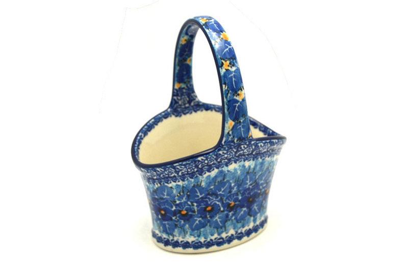 Ceramika Artystyczna Polish Pottery Basket - Small Hand - Unikat Signature - U3639 A30-U3639 (Ceramika Artystyczna)