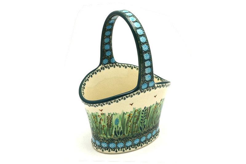 Ceramika Artystyczna Polish Pottery Basket - Small Hand - Unikat Signature - U803 A30-U0803 (Ceramika Artystyczna)