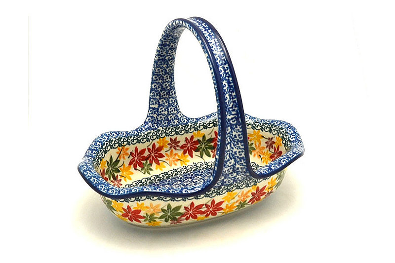 Polish Pottery Basket -Small Oval - Maple Harvest