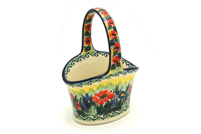Ceramika Artystyczna Polish Pottery Basket - Small - Unikat Signature - U4610 A30-U4610 (Ceramika Artystyczna)