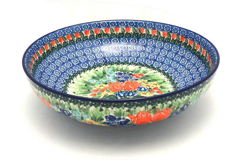 """Ceramika Artystyczna Polish Pottery Bowl - Contemporary - Large (11"""") - Unikat Signature U3516 C36-U3516 (Ceramika Artystyczna)"""
