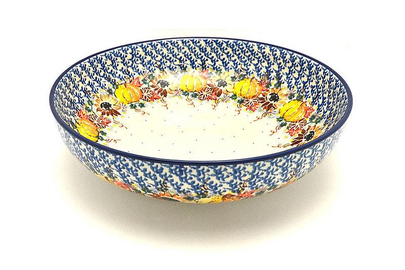 """Ceramika Artystyczna Polish Pottery Bowl - Contemporary - Large (11"""") - Unikat Signature U4741 C36-U4741 (Ceramika Artystyczna)"""