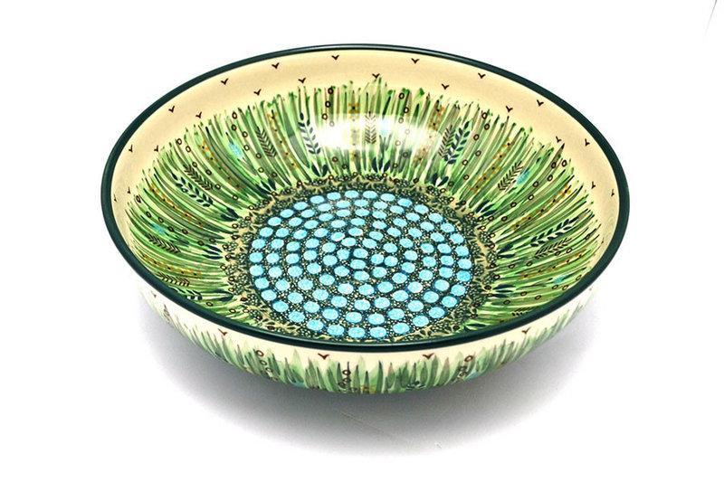 """Ceramika Artystyczna Polish Pottery Bowl - Contemporary - Large (11"""") - Unikat Signature U803 C36-U0803 (Ceramika Artystyczna)"""
