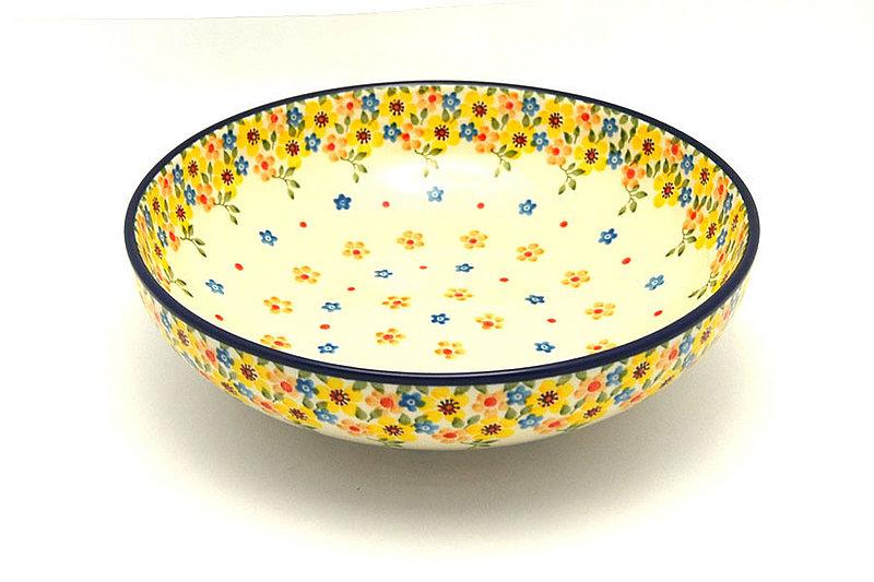 """Ceramika Artystyczna Polish Pottery Bowl - Contemporary - Medium (9"""") - Buttercup B91-2225a (Ceramika Artystyczna)"""