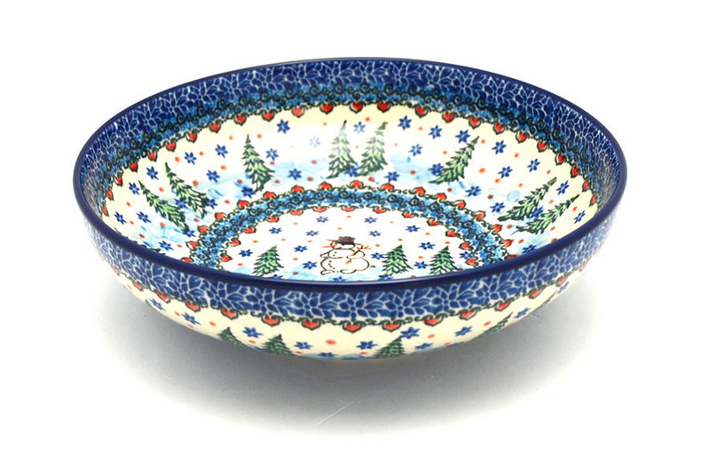 "Ceramika Artystyczna Polish Pottery Bowl - Contemporary - Medium (9"") - Unikat Signature U4661 B91-U4661 (Ceramika Artystyczna)"