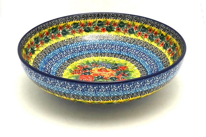 "Ceramika Artystyczna Polish Pottery Bowl - Contemporary - Medium (9"") - Unikat Signature U4779 B91-U4779 (Ceramika Artystyczna)"
