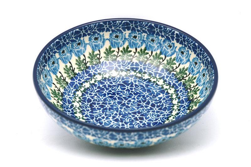 Ceramika Artystyczna Polish Pottery Bowl - Contemporary Salad - Antique Rose B90-1390a (Ceramika Artystyczna)