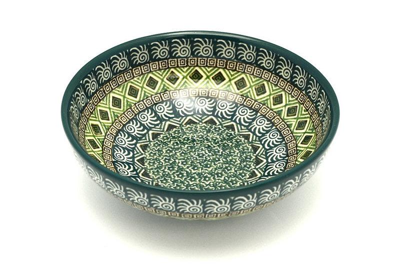 Ceramika Artystyczna Polish Pottery Bowl - Contemporary Salad - Aztec Forest B90-1919q (Ceramika Artystyczna)