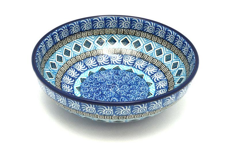 Ceramika Artystyczna Polish Pottery Bowl - Contemporary Salad - Aztec Sky B90-1917a (Ceramika Artystyczna)