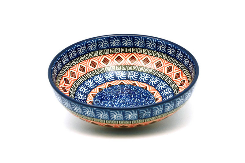 Ceramika Artystyczna Polish Pottery Bowl - Contemporary Salad - Aztec Sun B90-1350a (Ceramika Artystyczna)