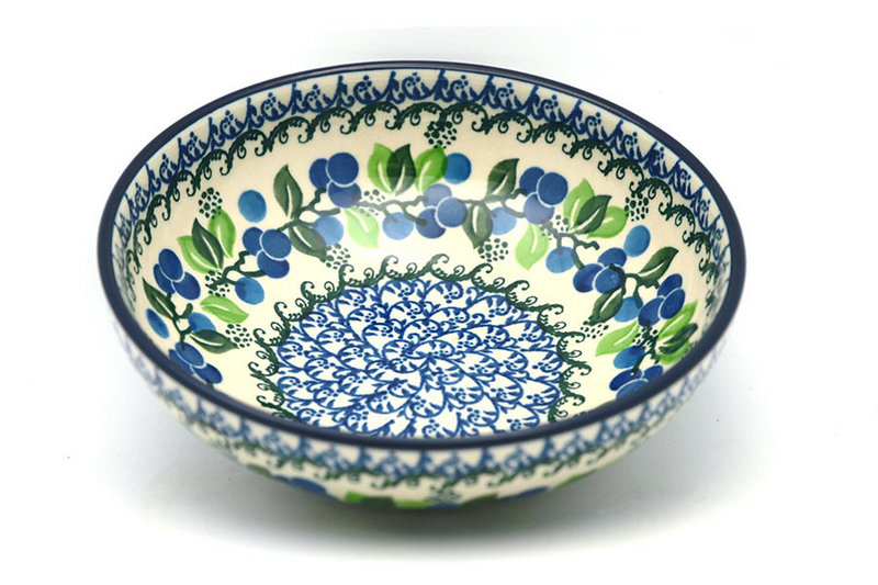 Ceramika Artystyczna Polish Pottery Bowl - Contemporary Salad - Blue Berries B90-1416a (Ceramika Artystyczna)