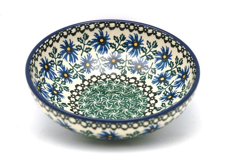 Ceramika Artystyczna Polish Pottery Bowl - Contemporary Salad - Blue Chicory B90-976a (Ceramika Artystyczna)