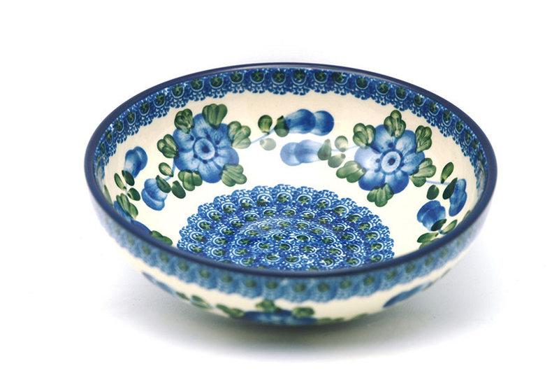 Ceramika Artystyczna Polish Pottery Bowl - Contemporary Salad - Blue Poppy B90-163a (Ceramika Artystyczna)