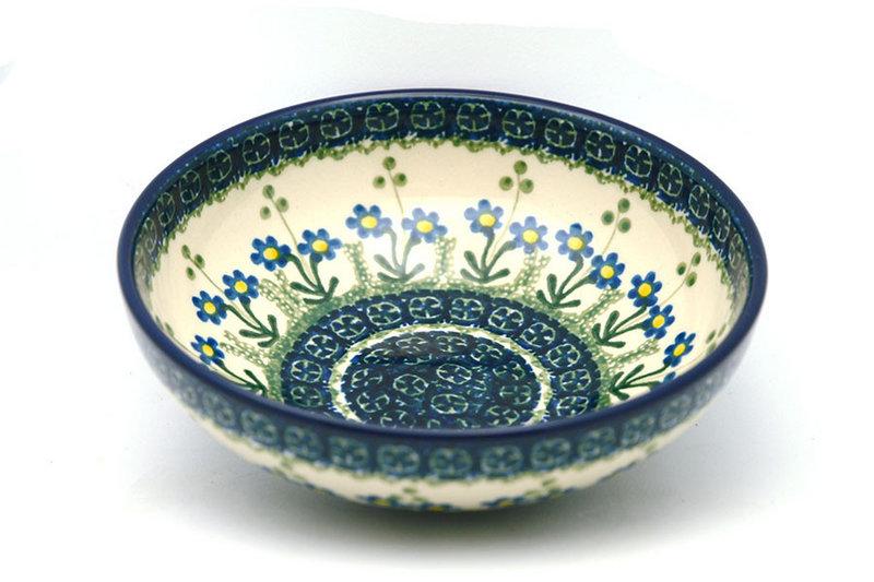 Ceramika Artystyczna Polish Pottery Bowl - Contemporary Salad - Blue Spring Daisy B90-614a (Ceramika Artystyczna)