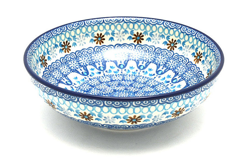 Ceramika Artystyczna Polish Pottery Bowl - Contemporary Salad - Blue Yonder B90-2187a (Ceramika Artystyczna)