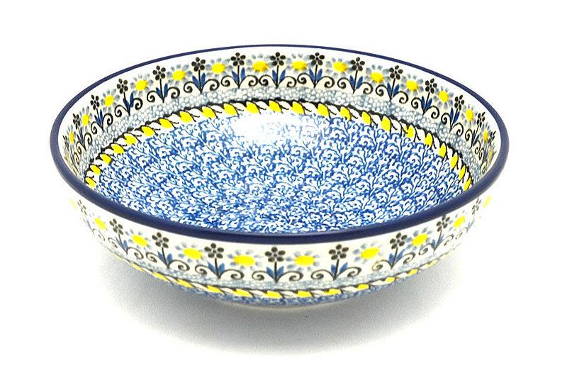 Ceramika Artystyczna Polish Pottery Bowl - Contemporary Salad - Daisy Maize B90-2178a (Ceramika Artystyczna)