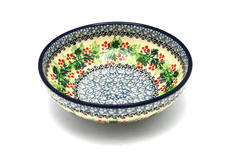 Ceramika Artystyczna Polish Pottery Bowl - Contemporary Salad - Holly Berry B90-1734a (Ceramika Artystyczna)