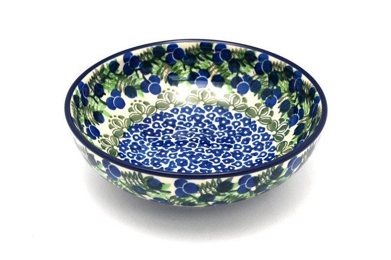 Ceramika Artystyczna Polish Pottery Bowl - Contemporary Salad - Huckleberry B90-1413a (Ceramika Artystyczna)