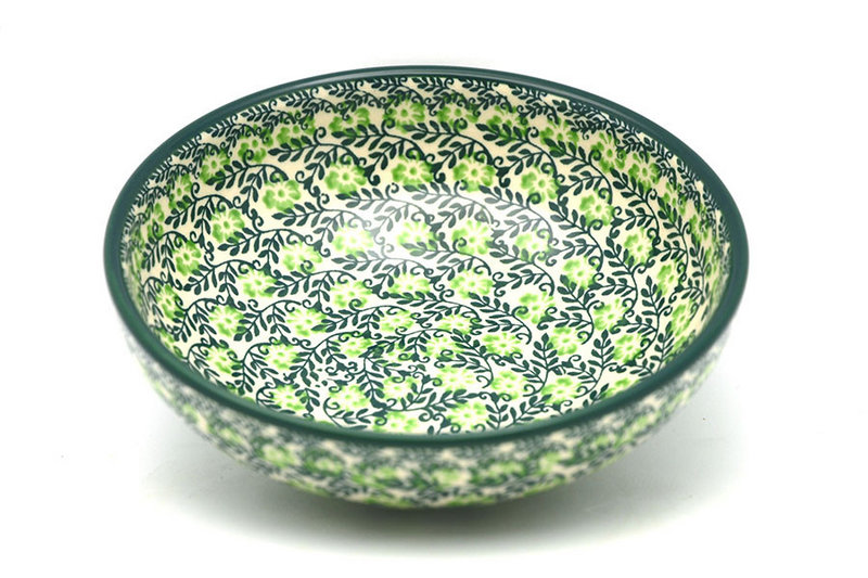 Ceramika Artystyczna Polish Pottery Bowl - Contemporary Salad - Irish Meadow B90-1888q (Ceramika Artystyczna)