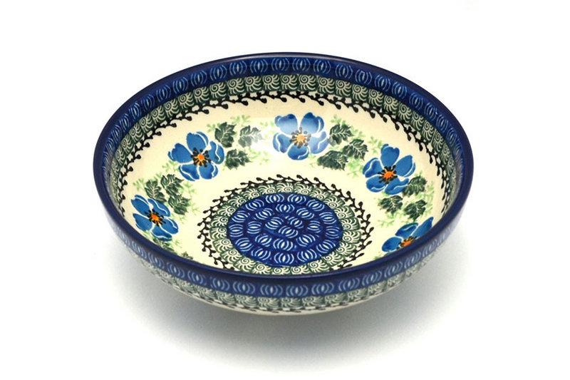 Ceramika Artystyczna Polish Pottery Bowl - Contemporary Salad - Morning Glory B90-1915a (Ceramika Artystyczna)