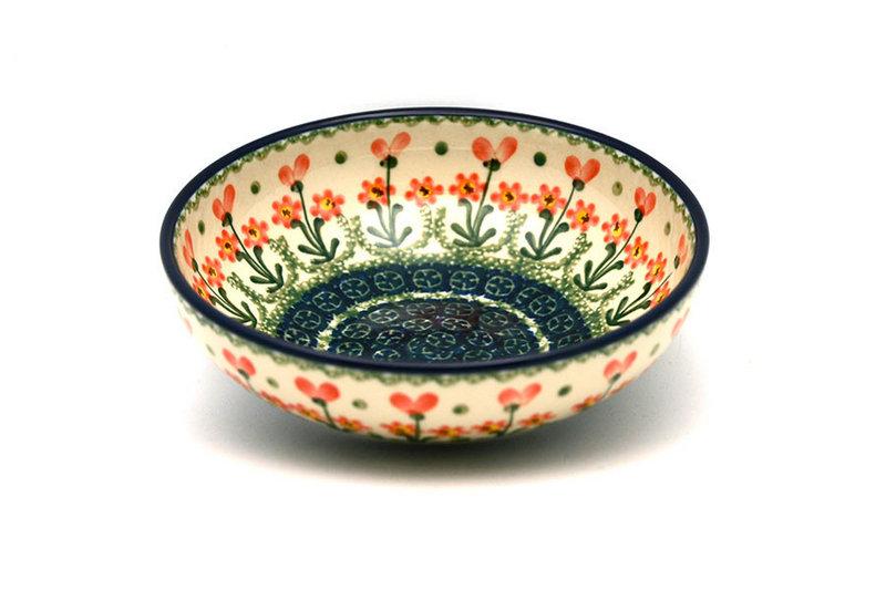 Ceramika Artystyczna Polish Pottery Bowl - Contemporary Salad - Peach Spring Daisy B90-560a (Ceramika Artystyczna)