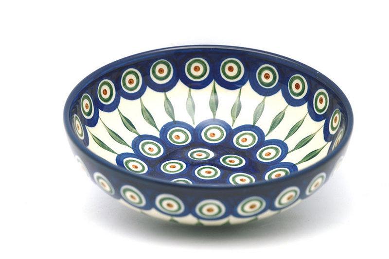 Ceramika Artystyczna Polish Pottery Bowl - Contemporary Salad - Peacock B90-054a (Ceramika Artystyczna)